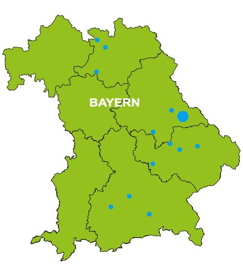 Bild der Kartoffelkarte Bayern